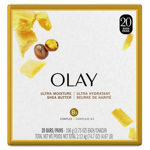 Olay ultra-moisture beauty bars  20 × 106  g