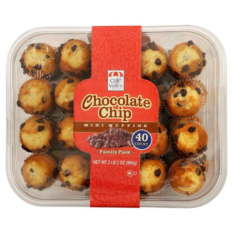 Cafe Valley Bakery Chocolate Chip Mini Muffins 40 ct