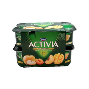 Danone Activia Yellow Apple Peach Apricot Mango Probiotic Yogurt
