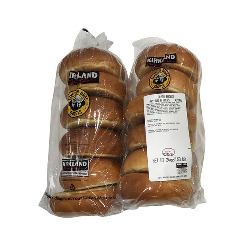 Kirkland Signature Bagels 2 x 6 ct