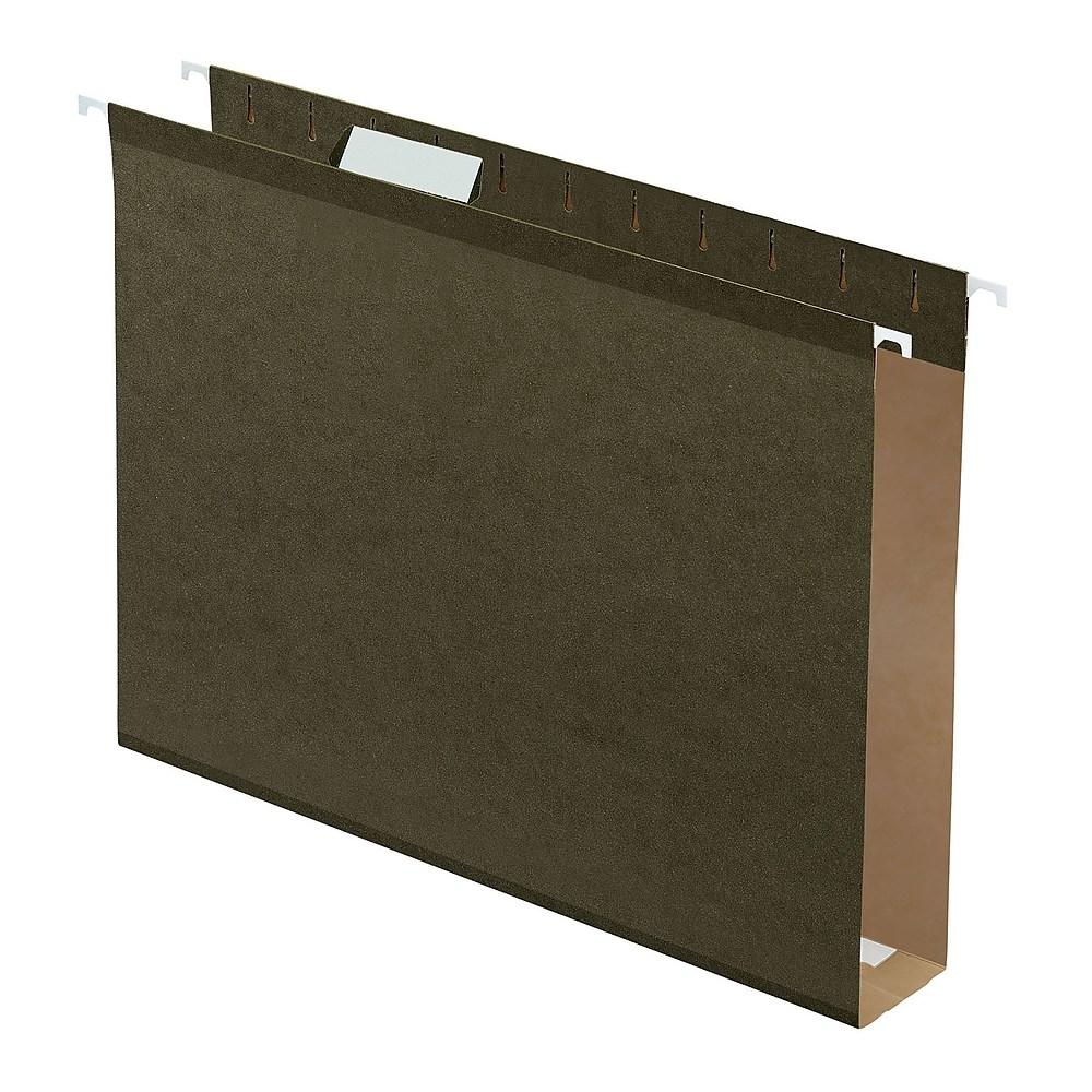 Pendaflex Extra-Capacity Hanging Folders with Box Bottom, Legal, Green, 25 Pack