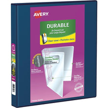 "Load image into Gallery viewer, Avery Durable View Binder, 1"" Sized Slant D Rings, White, (34002)"