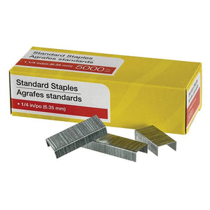 "Standard Staples, 1/4"" Leg Length, 25,000 Pack"