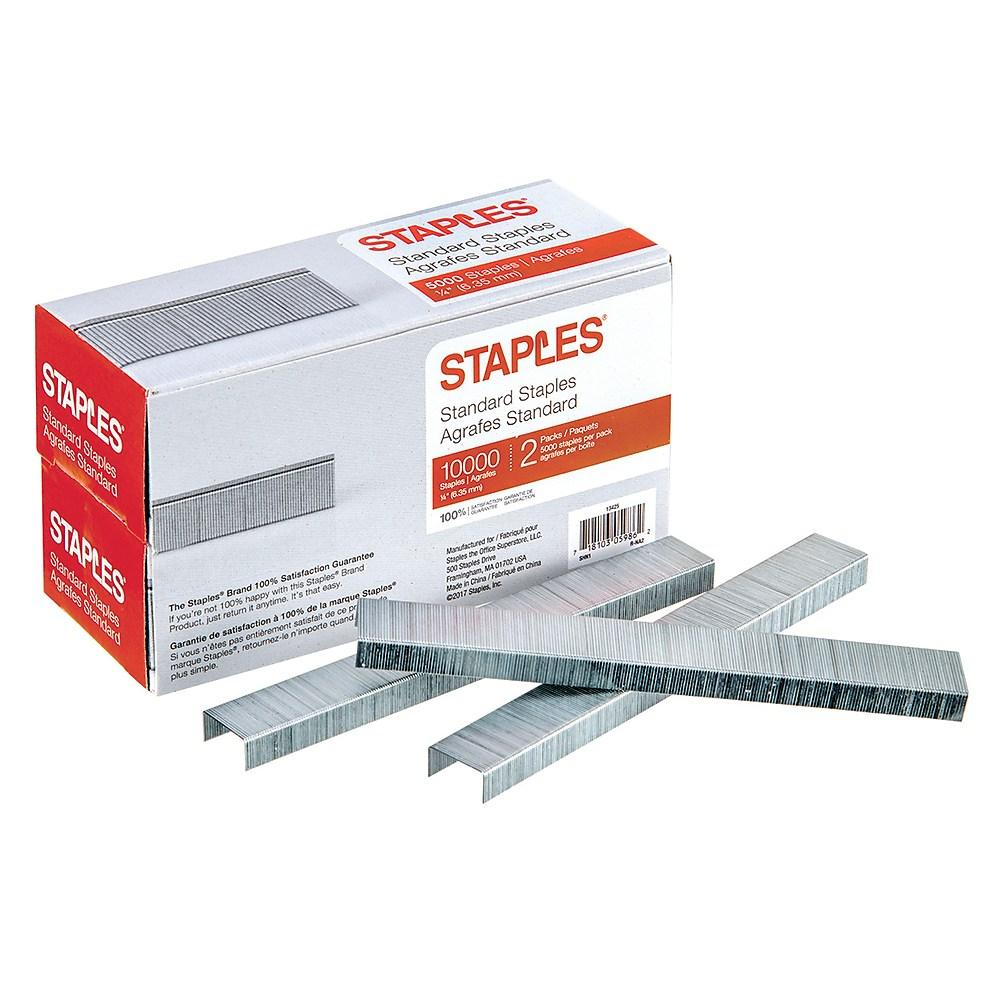 Staples Standard Staples, 10000/Pack