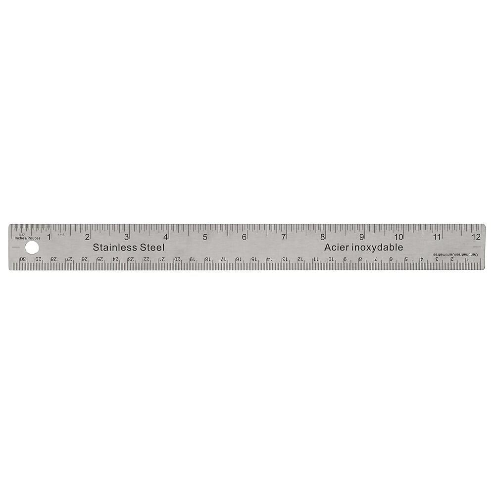 Staples Stainless Steel Ruler, 12