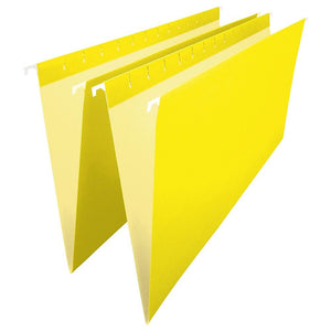 "Staples Coloured Hanging File Folder, Legal Size, 8-1/2"" x 14"", Yellow"