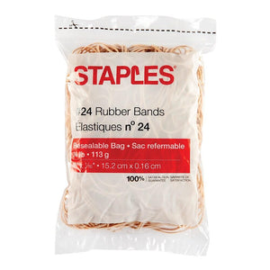 Staples Economy Rubber Bands, Size #24
