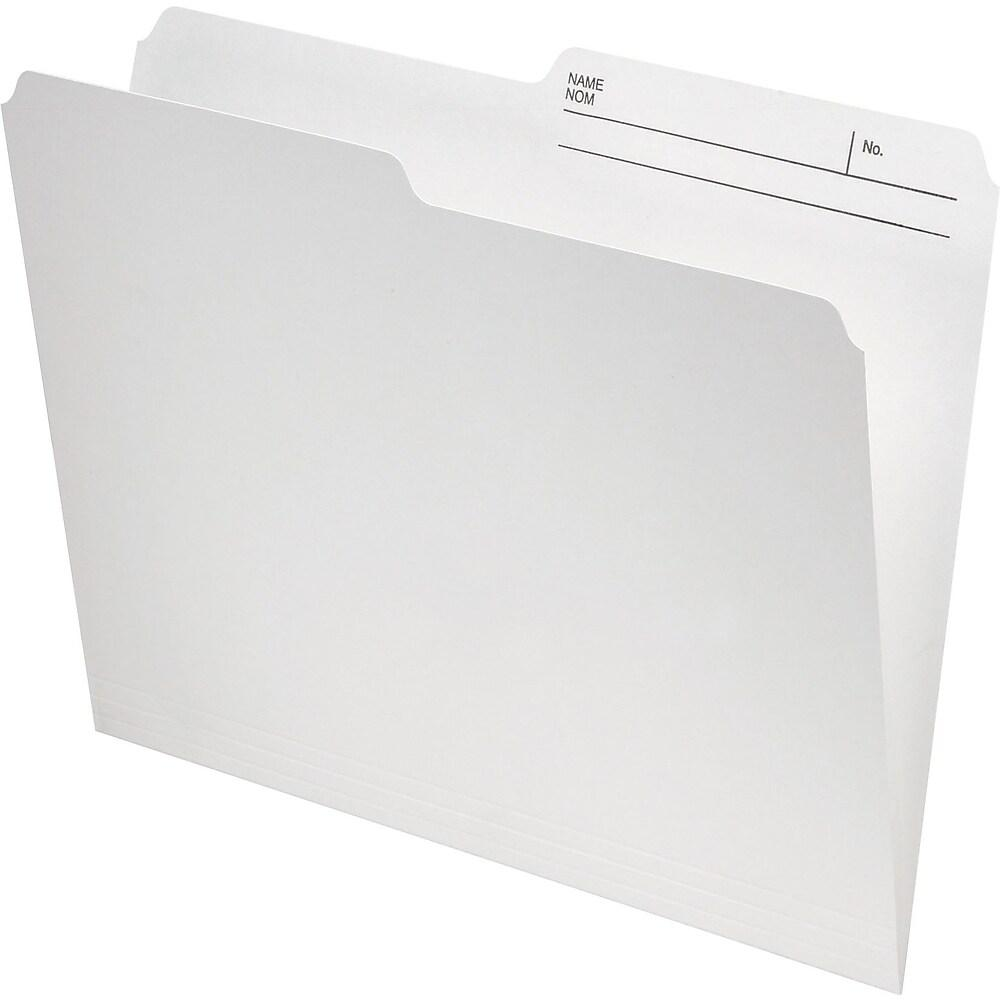 Staples Recycled File Folder, 1/2-Cut, Letter Size, 10-1/2 pt., Ivory