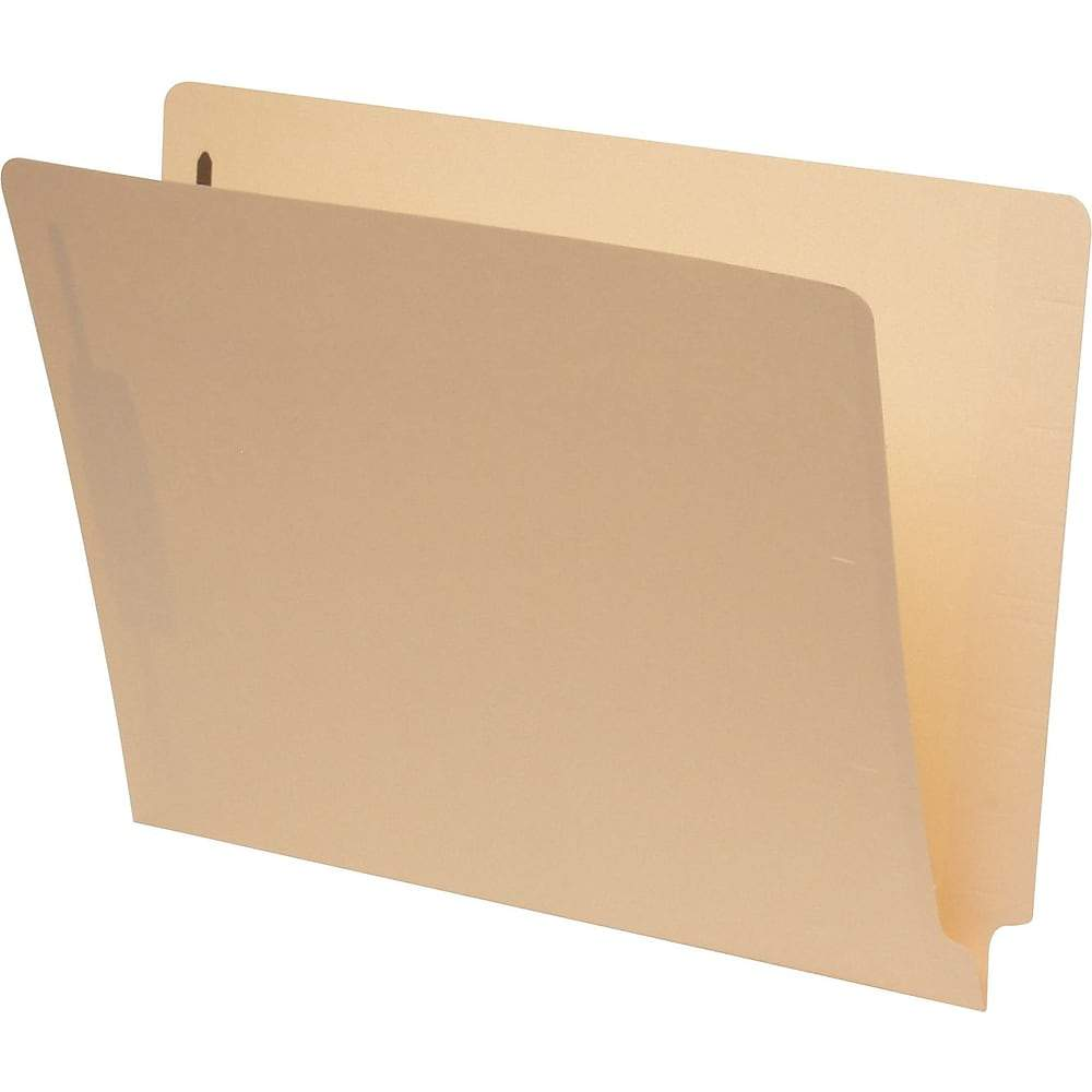 Pendaflex Laminated End-Tab Folder with # 1 Fastener Position, Letter Size, Manila