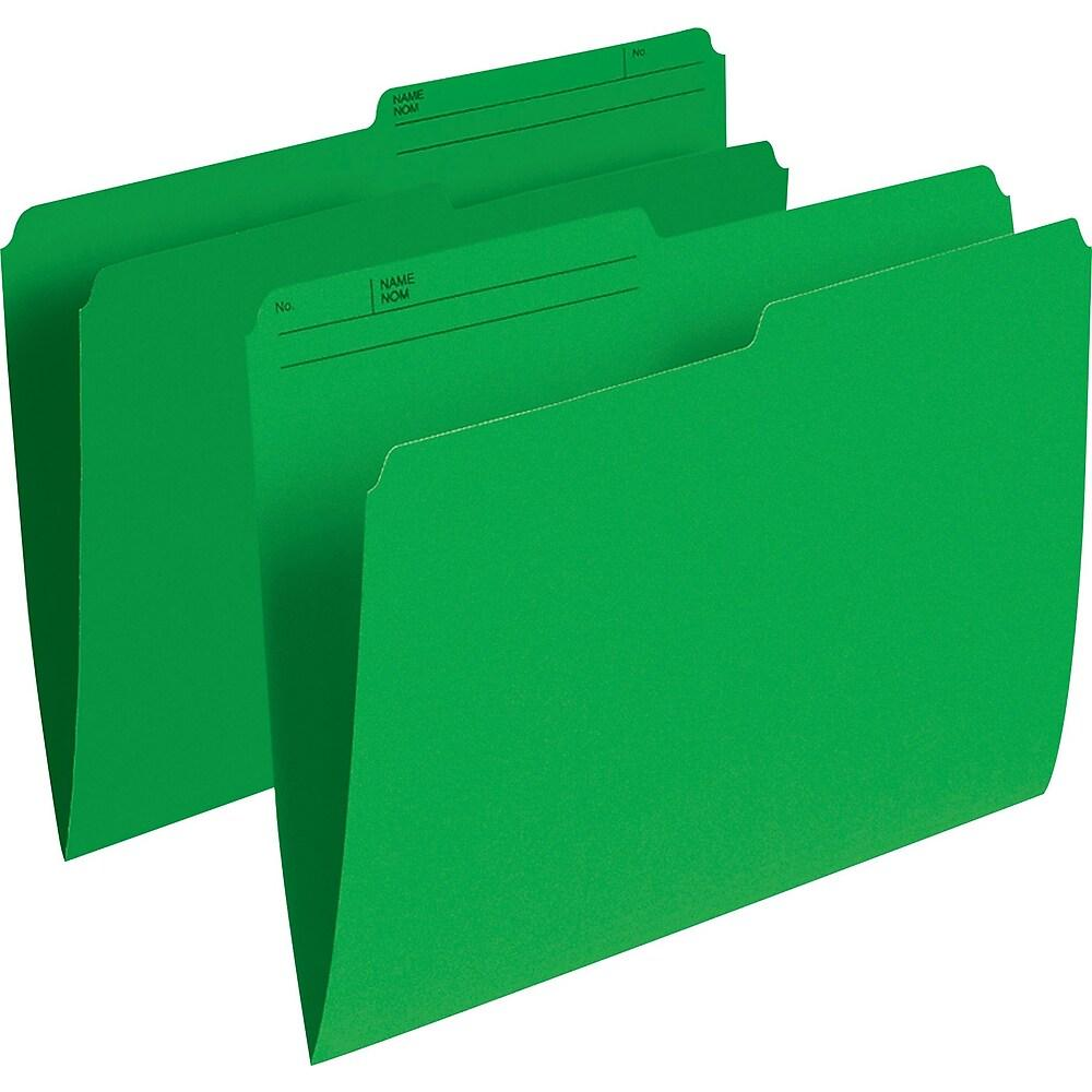 Staples Coloured File Folders, Letter Size, 8-1/2