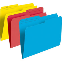 "Load image into Gallery viewer, Staples Coloured File Folders, Letter Size, 8-1/2"" x 11"", Assorted Colours, 100 Pack"