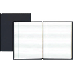 "Hardcover Notebook, 9-1/4"" x 7-1/4"", Black, 192 Pages"
