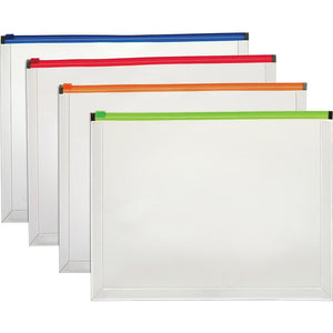 "Staples Letter Size Poly Zip Envelopes with 1"" Expansion, Assorted Colours"