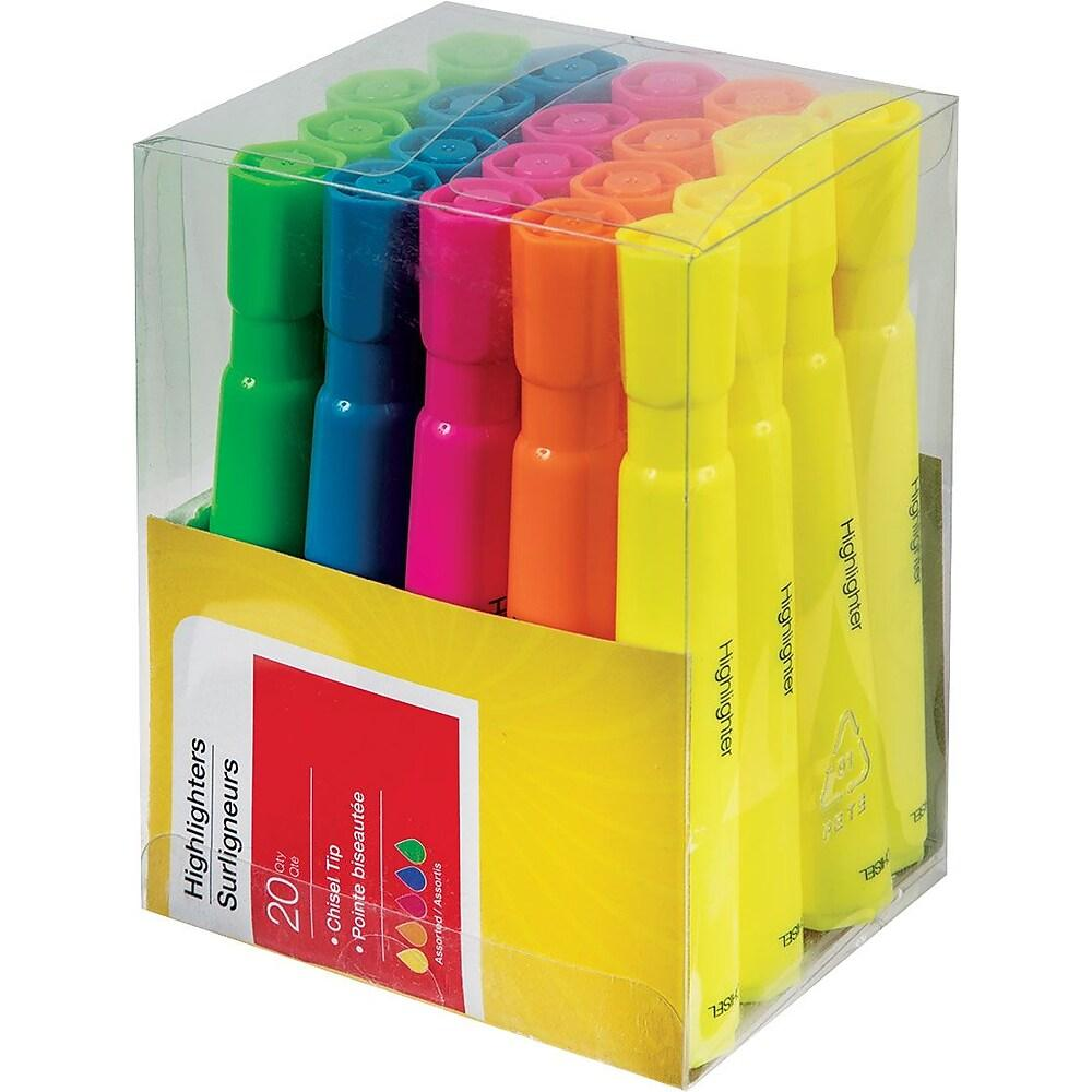 Tank-Style Highlighters, Assorted, 20/Pack