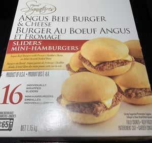 Pierre Signatures Angus Burger Sliders (16PK) 1.15KG