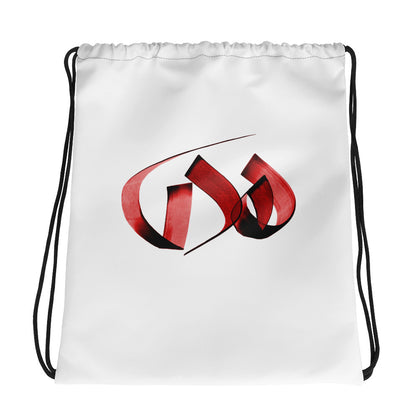 Huda Red Drawstring bag