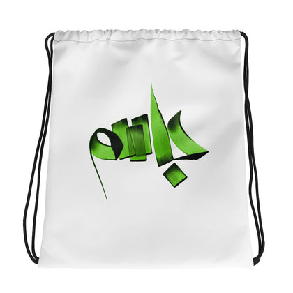 Jasem Green Drawstring bag
