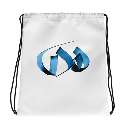 Huda Blue Drawstring bag
