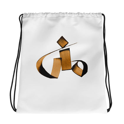 Mona Brown Drawstring bag