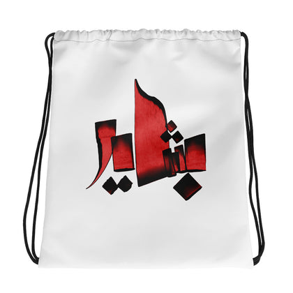 Bashayer Red Drawstring bag