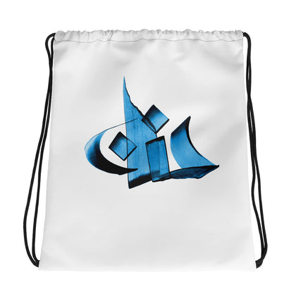 Hanan Blue Drawstring bag