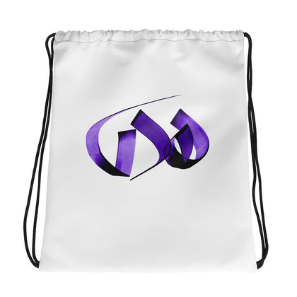 Huda Purple Drawstring bag