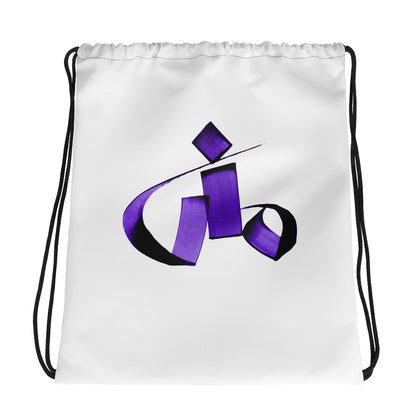 Mona Purple Drawstring bag