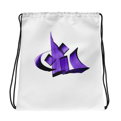 Hanan Purple Drawstring bag