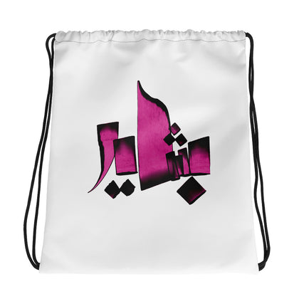 Bashayer Pink Drawstring bag