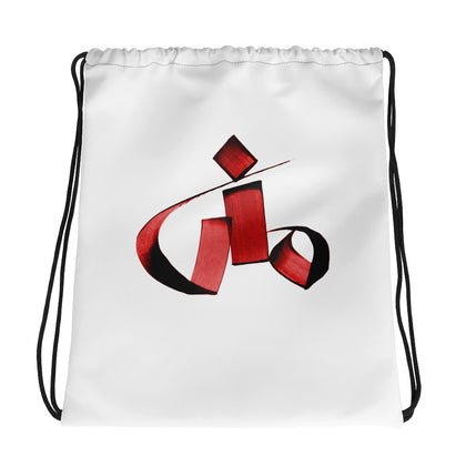 Mona Red Drawstring bag
