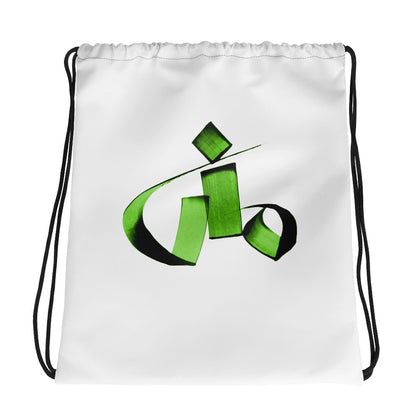 Mona Green Drawstring bag