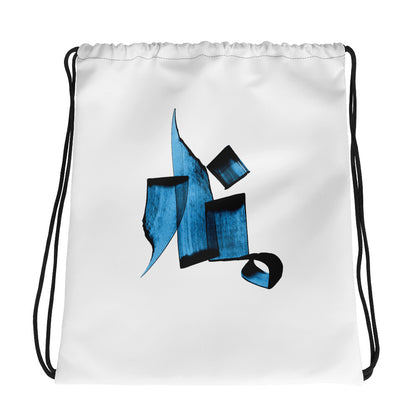Manar Blue Drawstring bag