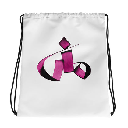 Mona Pink Drawstring bag