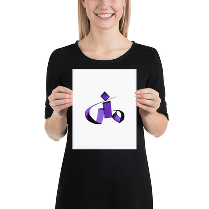 Mona Purple Poster