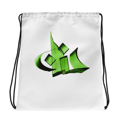 Hanan Green Drawstring bag