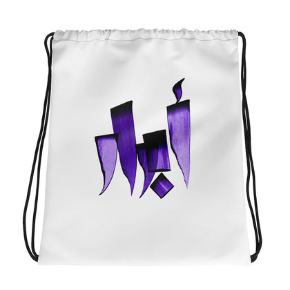 Abrar Purple Drawstring bag