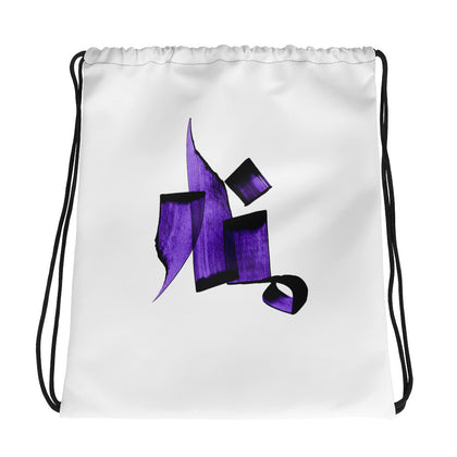 Manar Purple Drawstring bag