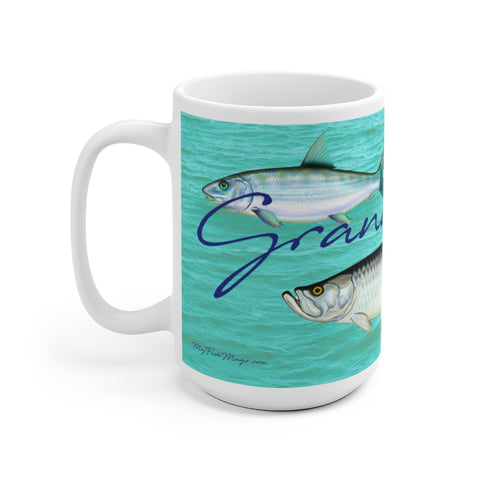 Grand Slam White Ceramic Mug 15 Oz