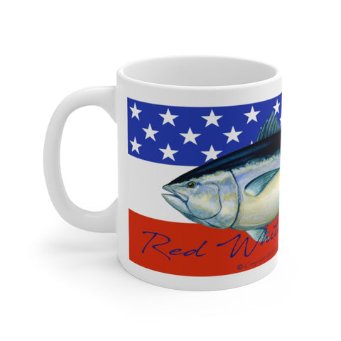 Red White and Bluefin Tuna Mug 11oz