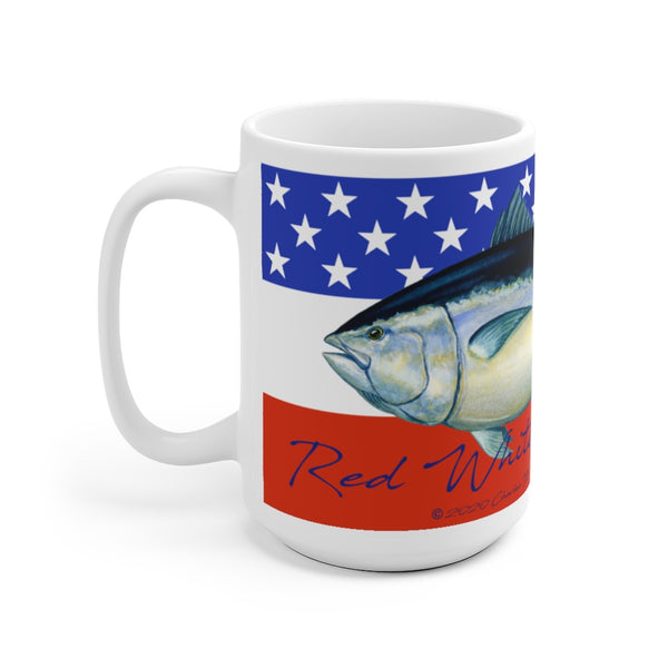 Red White and Bluefin Mug 15 oz