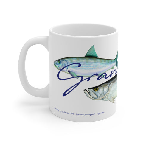 Grand Slam Fisherman's White Mug 11 oz.