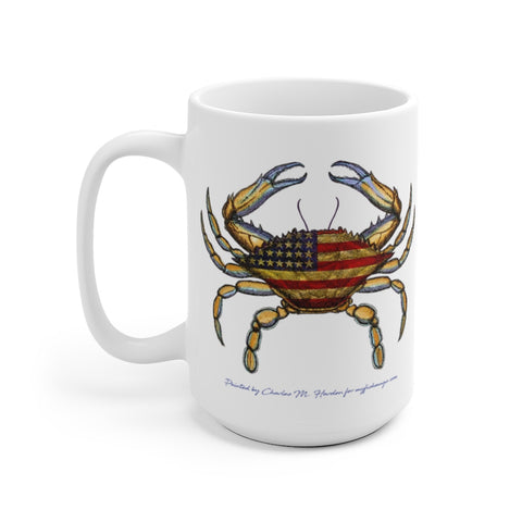 4th of July Crab Mug