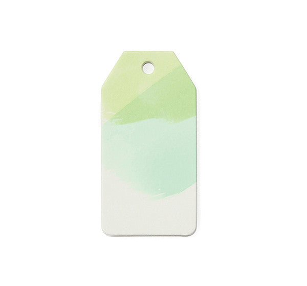 Watercolor Gift Tag Green/Mint