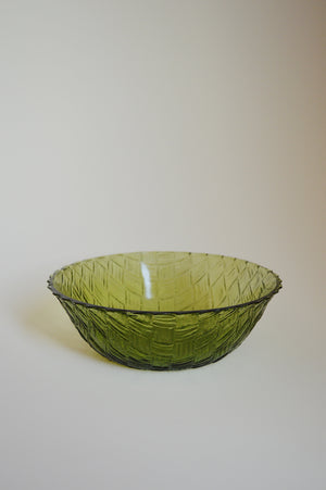 ETCHED SERVING BOWL