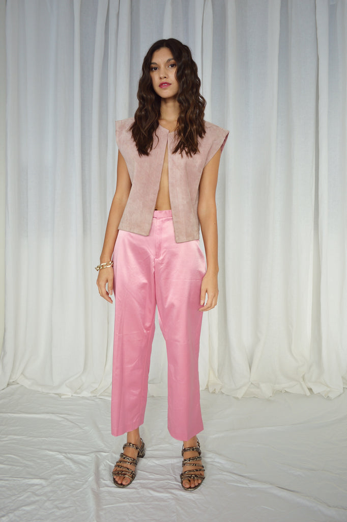CROPPED SILKY PANTS