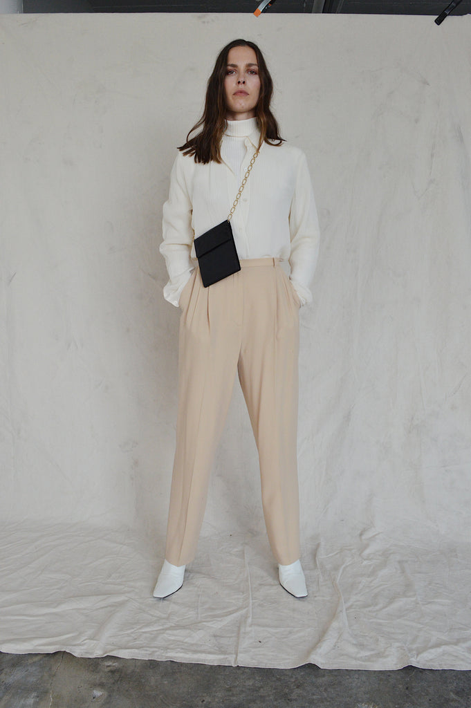 CREAM WOOL TROUSERS