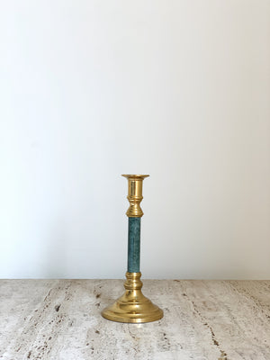 BRASS & MARBLE CANDLE HOLDER