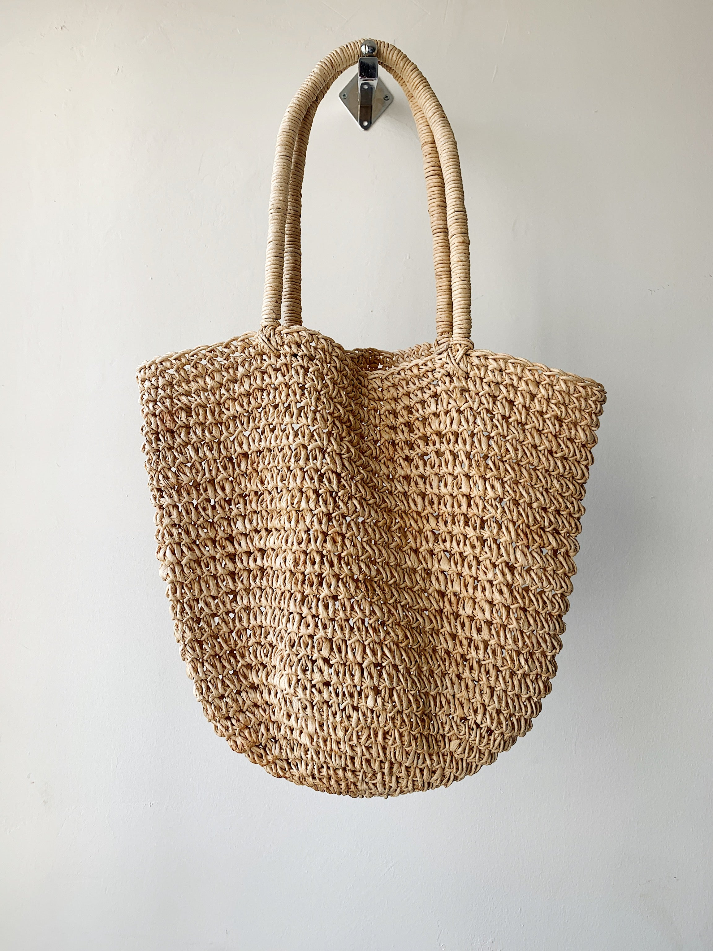SLOUCHY WICKER TOTE