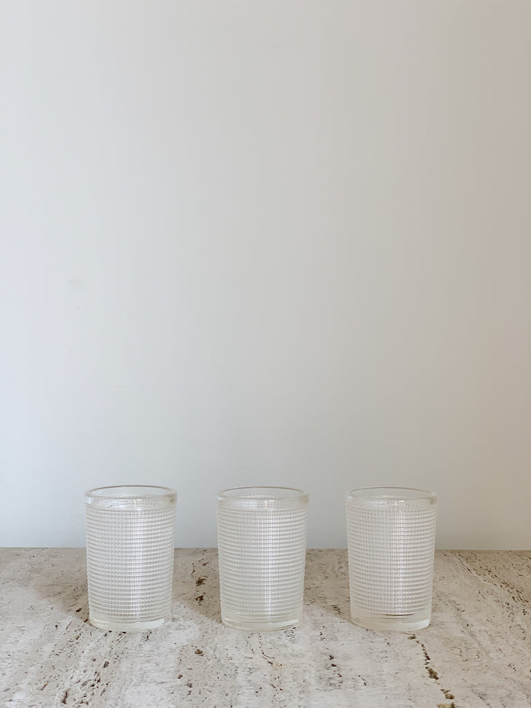 TEXTURED GLASS SET