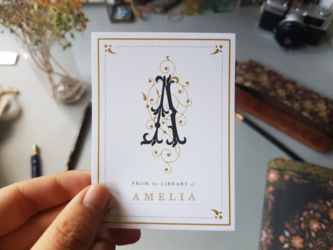 Personalised bookplate sticker with your name